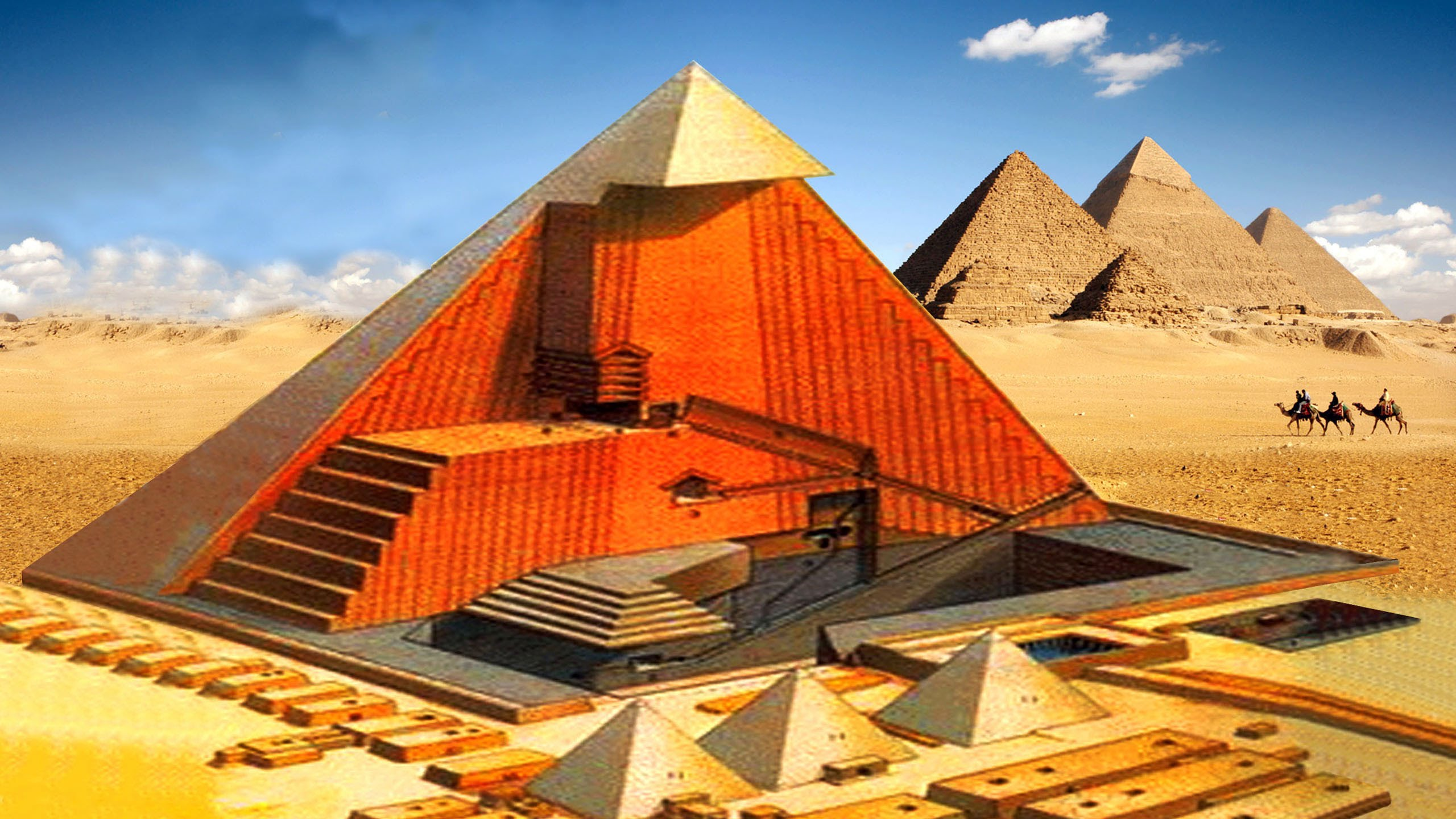 a history of the construction of the great pyramids of ancient egypt The ancient world comes to life in the first volume in a two book series on the  history of egypt, spanning the first farmers to the construction of the pyramids.