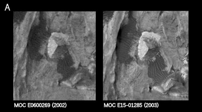 Artificial structure on Mars—three-sided Pyramid—verified in Science Journal Mars-Pyramid-1