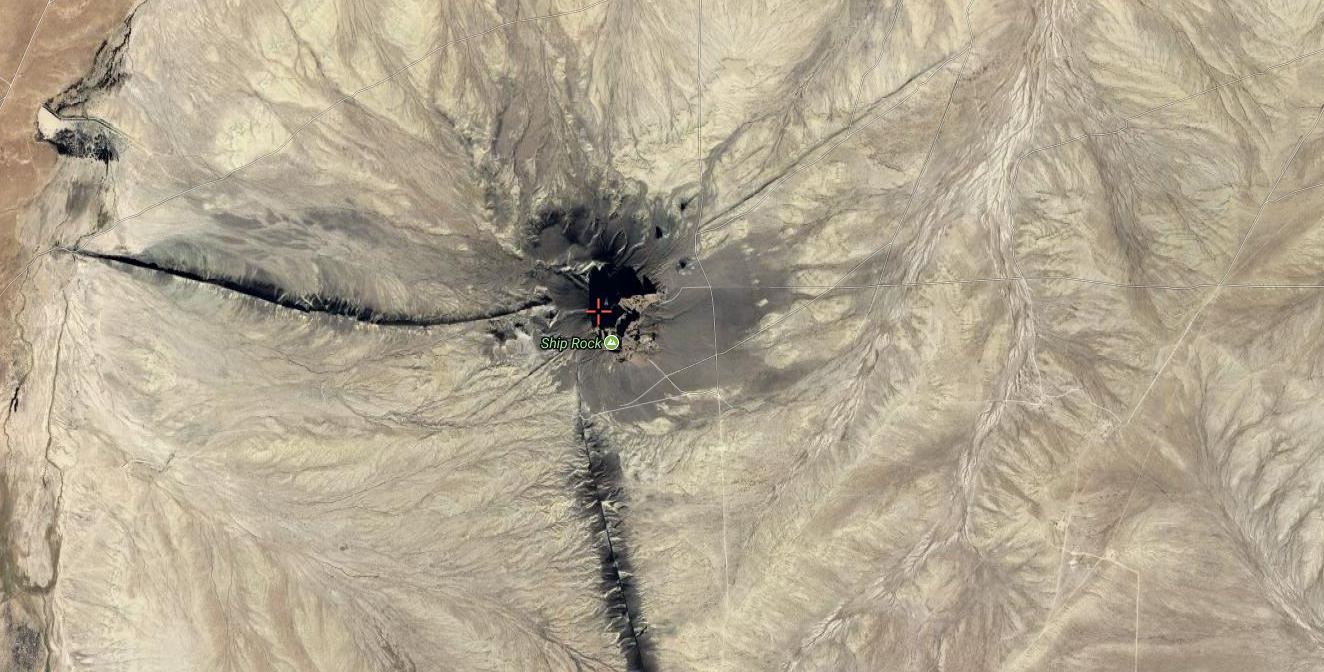 The Mysteries And Legends Of Shiprock, The Sacred Peak Of The Navajo People Satellite-View-Shiprock